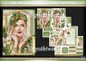 Art Deco Lady Emilia 4 Sheet Mini Kit Green