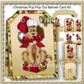 Christmas Pup Pop Out Banner Card Kit