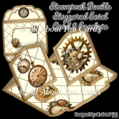 Steampunk Double Staggered Easel Card