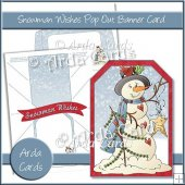 Snowman Wishes Pop Out Banner Card