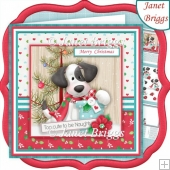 GOOD CHRISTMAS PUPPY 7.5 Decoupage & Insert Kit