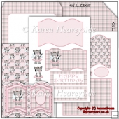 Fairy Pink Kitty Open Book Easel Card(Retiring in October)