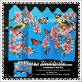 Blue Tits, Blossoms & Butterflies Over The Edge Concertina Kit
