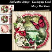 Enchanted Bridge - Decoupage Card