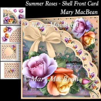 Summer Roses - Shell Front Card