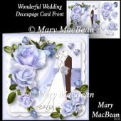 Wonderful Wedding Decoupage Card Front