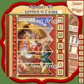 CHRISTMAS NATIVITY 7.5 Quick Card Kit Create Any Name
