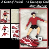 A Game of Football - A4 Decoupage Card