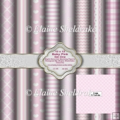 12 x 12 Baby Pink Set One Backing Papers