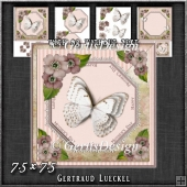 Vintage Lace Flowers Butterfly Mother's Day Card Kit 1248