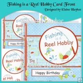 Fishing is a Reel Hobby Card Front with Pyramage
