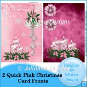2 Quick Pink Christmas Card Fronts