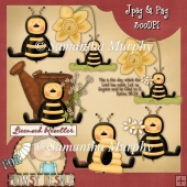 Country Bees 2 Clip Art Download