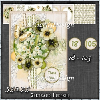 In Love With Flowers Card Kit 1436