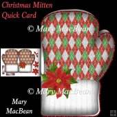 Christmas Mitten Quick Card