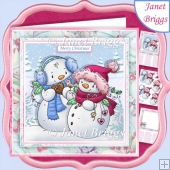 MR & MRS SNOWMAN 7.5 Christmas Decoupage & Insert Kit