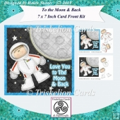 Love You to the Moon And Back 7 x & Inch Card Front
