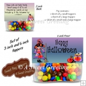 DIY Happy Halloween 3 & 6 inch Halloween Treat Bag Toppers