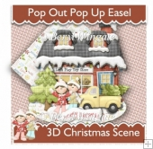 Pop out/Pop up Christmas Easel