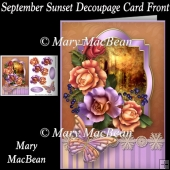 September Sunset Decoupage Card Front