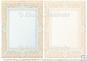 2 x A5 Orange (2) Lace Frames for Card Making & Scrapbooking