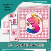Girl Age 3 Birthday Kit