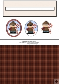 Winter Boy 5 Christmas Penny Slider Sheet