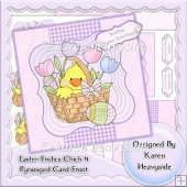 Easter Frolics Chick 4 Pyramaged Card Front