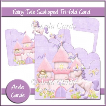 Fairy Tale Scalloped Tri-Fold Card