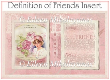 Definition of Friends Card Insert