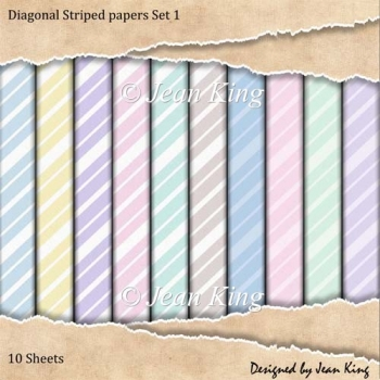 Diagonal Striped papers Set 1