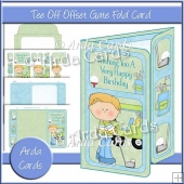 Tee Off Offset Gate Fold Card
