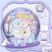 Christmas Snow Globe Singing Snowmen Shaped Rocker Card Kit