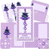Purple Christmas Bells DL Card Kit