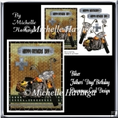 Biker Fathers Day/Birthday Decoupage Card Design