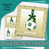 Green Football Bauble Cardfront