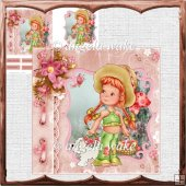 picnic time card with decoupage