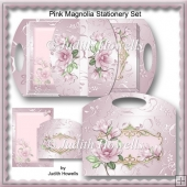 Pink Magnolia Stationery Set