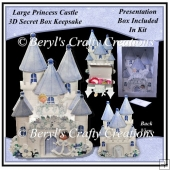 Large Princess Castle Secret Box Keepsake