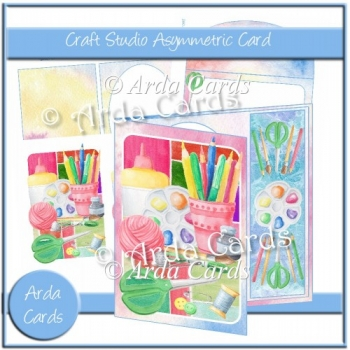 Craft Studio Asymmetric Card