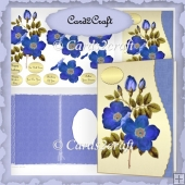 Oictyre of blue poppy wavy edge card
