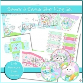 Bonnets & Bowties Silver Party Set