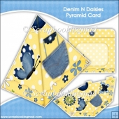 Denim and Daisies Pyramid Card