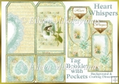 Heart Whispers Tag Booklet Greeting Card Set