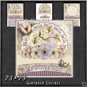 Vintage Pastel Shabby Chic Card Kit 1198