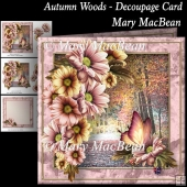 Autumn Woods - Decoupage Card