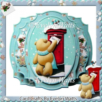 Letter To Santa Claus Double Pop Out Card & Envelope Card Kit