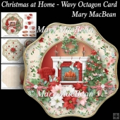 Christmas at Home Wavy Octagon Card