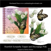 Heartfelt Sympathy Topper and Decoupage Pink