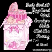 Baby Girl 3D Box Card & Envelope Kit